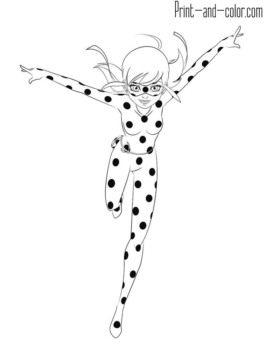 Розмальовки Леді Баг