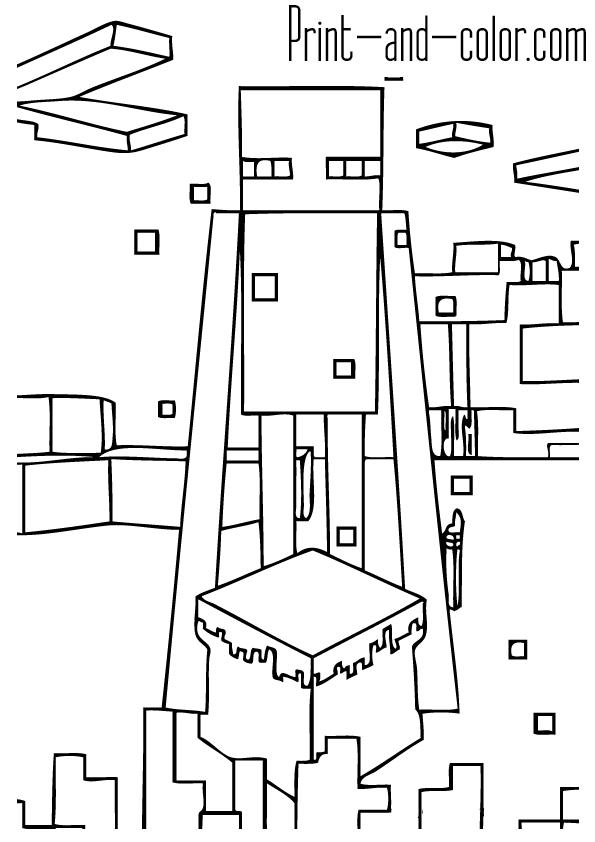 Раскраски Майнкрафт